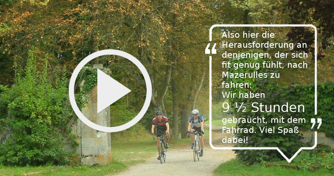 Mit dem Fahrrad zum St. Johanneshof in Mazerulles